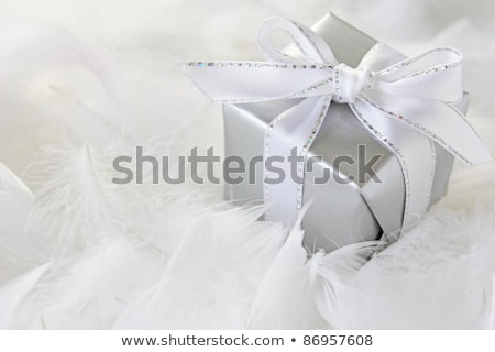 Decorative Christmas gifts in luxuriant feathers Stock photo © ozgur