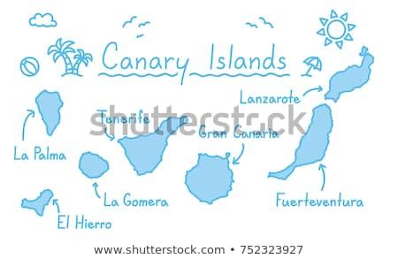 地図 ラ 島 孤立した 実例 グレー ストックフォト © rbiedermann