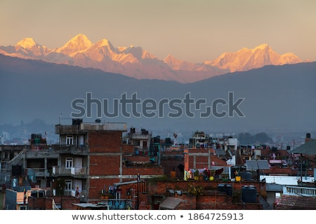 stad · oneindig · Nepal · bergen · achter · asia - stockfoto © dutourdumonde