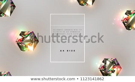 Mooie edelstenen witte mode glas Stockfoto © artfotoss