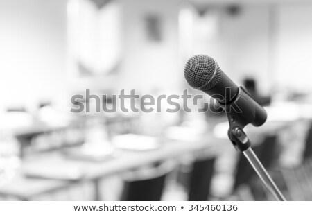 スタンド · ベクトル · 空っぽ · 表彰台 · 音声 · マイク - ストックフォト © rastudio
