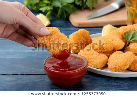 nugget and ketchup Stock photo © M-studio