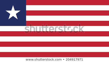 Bandeira Libéria ilustração branco estrela vermelho Foto stock © Lom