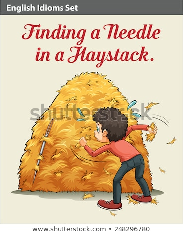 A boy finding a needle Stock photo © bluering