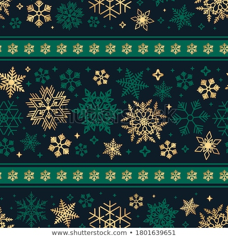 New Year and Merry Christmas seamless pattern, vector illustration Stock photo © carodi