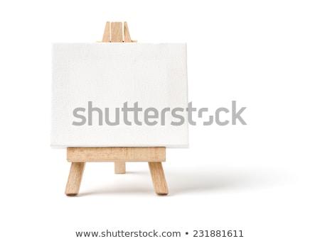 festőállvány · vászon · ecset · modell · művészet · piros - stock fotó © simply