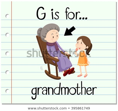 Flashcard letter G is for grandmother Stock photo © bluering