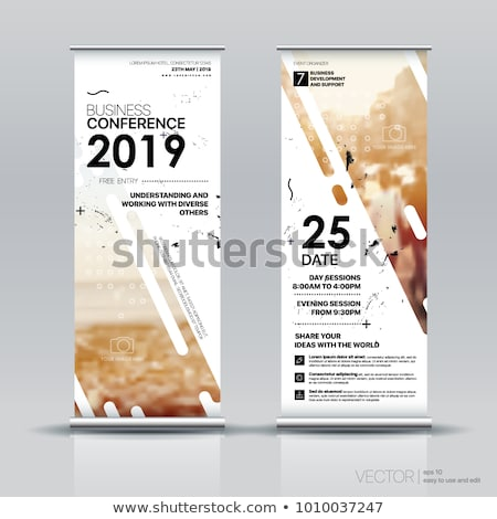 advertisement roll up business flyer or brochure banner with vertical design stock photo © davidarts