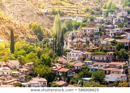 Köy bölge Kıbrıs ev doğa dağ Stok fotoğraf © Kirill_M
