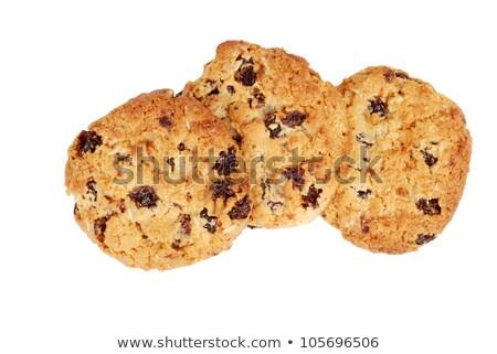 Сток-фото: три · Cookies · изюм · изолированный · белый