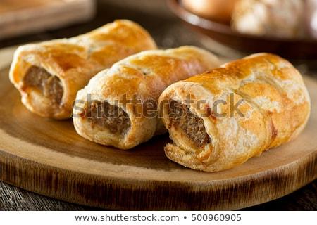 salsiccia · torta · isolato · bianco · alimentare · cena - foto d'archivio © digifoodstock