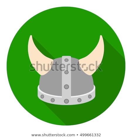 battle helmet medieval stock vector illustration Stock photo © konturvid