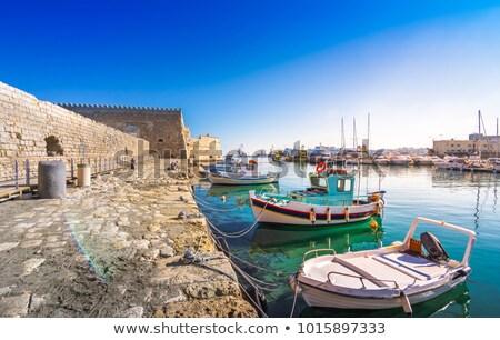 古い · 釣り · ボート · ビーチ · ヴィンテージ · レトロスタイル - ストックフォト © neirfy