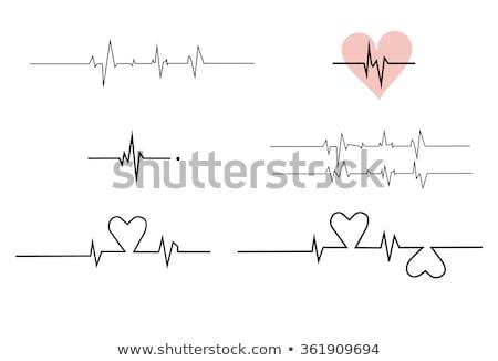 Battito cardiaco ritmo rosso grande cuore impulso Foto d'archivio © alexaldo