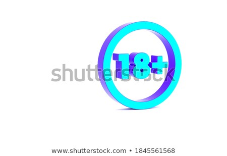 Adults only content prohibition sign. 3D Stock photo © djmilic