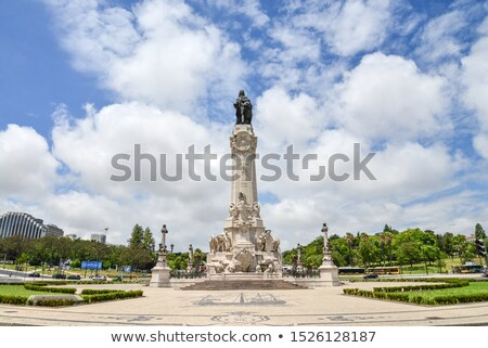 Marques do Pombal statue. Lisbon Stock photo © joyr