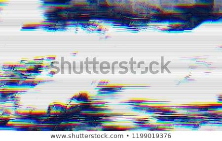Vector vervormd afbeelding monitor scherm gegevens Stockfoto © SArts