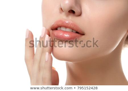 Botox lábios mulher ilustração médico Foto stock © Kakigori