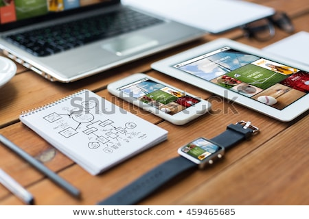 Office workplace with laptop. Responsive design Stock photo © -Baks-