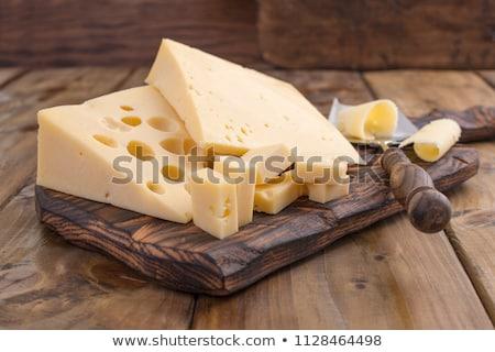 Queijo comida fundo leite café da manhã branco Foto stock © ordogz