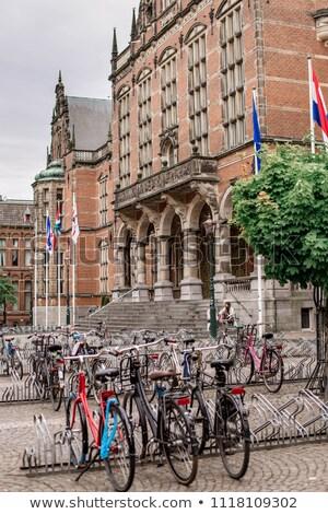 Bikes in front of Dutch university Stock photo © Hofmeester