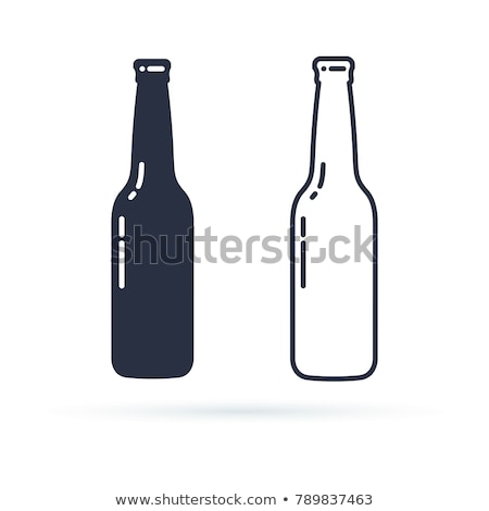Vector flat style illustration of beer bottle and beer glass. Stock photo © curiosity