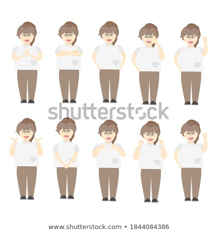 shocked young doctor surprised nurse woman flat cartoon vector i stock photo © nikodzhi