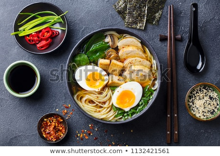 Bowl of ramen Stock photo © AGfoto