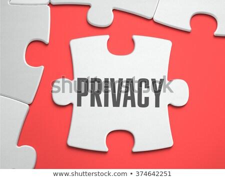 Privacidade quebra-cabeça lugar desaparecido peças texto Foto stock © tashatuvango