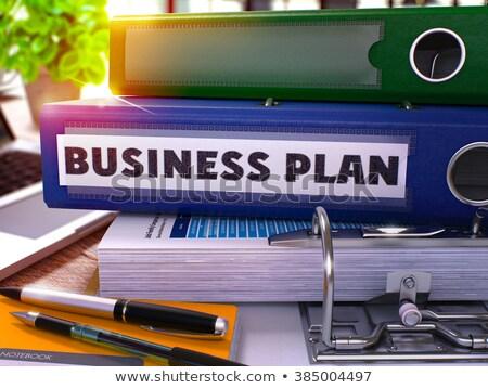 Business Innovation on Green Ring Binder. Blurred, Toned Image. Stock photo © tashatuvango