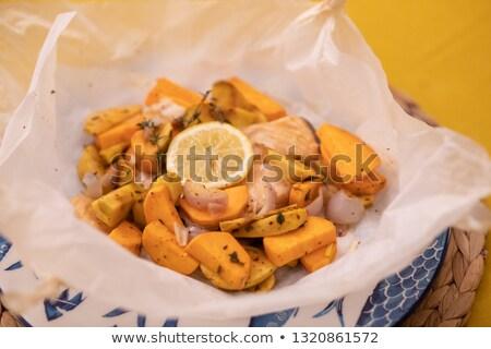 Potatoes in paper bag stock photo © Hofmeester