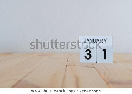 3D · cubes · bleu · lettres · hiver · blanche - photo stock © oakozhan