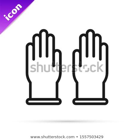 vector · handschoenen · paar · icon · lang · schaduw - stockfoto © blumer1979
