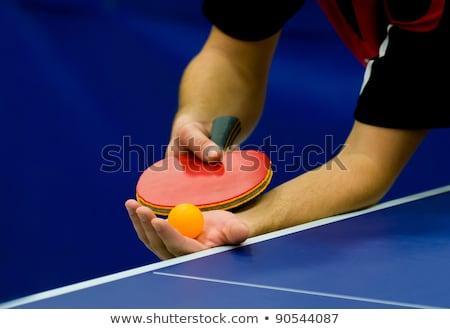 asztalitenisz · labda · tenisz · asztal · jókedv · fekete - stock fotó © dolgachov