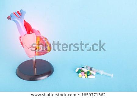 Ischemia. Medical Concept on Blue Background. Stock photo © tashatuvango
