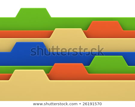 Sort Index Card with Classified Information. 3D. Stock photo © tashatuvango
