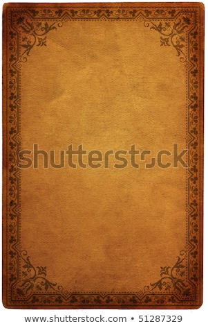 Stock photo: blank antique paper with victorian border