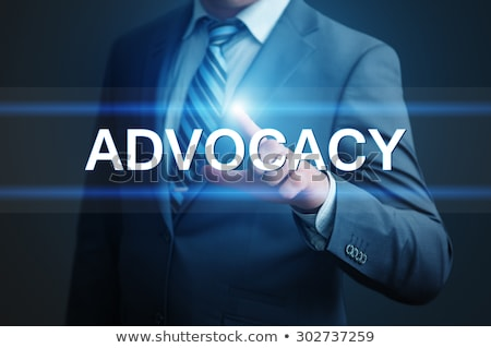Hand Finger Press Advocacy Button. Stock photo © tashatuvango