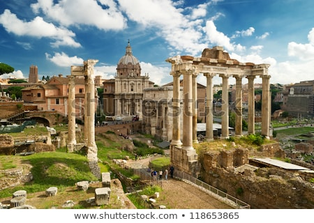 top view of roman forum rome italy stock photo © ankarb