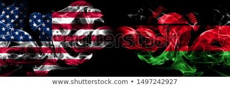 Voetbal vlammen vlag Malawi zwarte 3d illustration Stockfoto © MikhailMishchenko