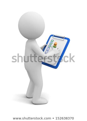 presse-papiers · déclaration · 3D · bois · affaires - photo stock © tashatuvango