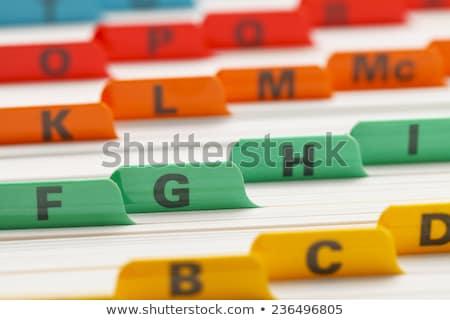 Index Card with Work Plans. Stock photo © tashatuvango
