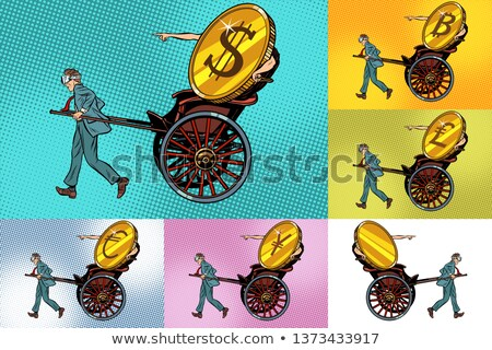 Set transfer cryptocurrency, bitcoin dollar and other money Stock photo © studiostoks