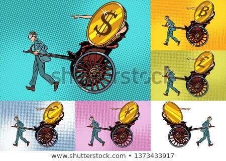 Ingesteld overdragen bitcoin dollar ander geld Stockfoto © studiostoks