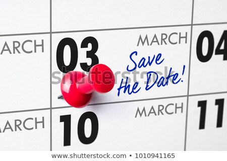 Wall calendar with a red pin - March 03 Stock photo © Zerbor