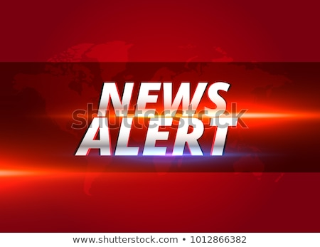 news alert concept graphic design for tv news channels Stock photo © SArts