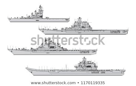 Militar guerra navio vetor gráfico simples Foto stock © jeff_hobrath