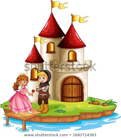 Castle knight vector illustration clip-art eps image stock photo © vectorworks51