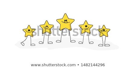 creative star rating symbol design vector Stock photo © SArts