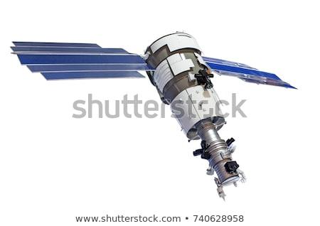 Orbital communication satellite isolated icon Stock photo © studioworkstock